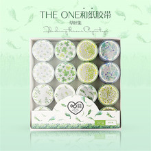 32 Pieces / Piece of Stripe Plaid Flower Basic Solid Color Paper Washi Tape DIY Scrap Label Masking Stationery