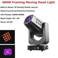 Professional Lighting Framing Moving Head Light 400W Beam Spot Zoom Light RGBW 4IN1 Moving Head Beam For Disco Laser Light Dj