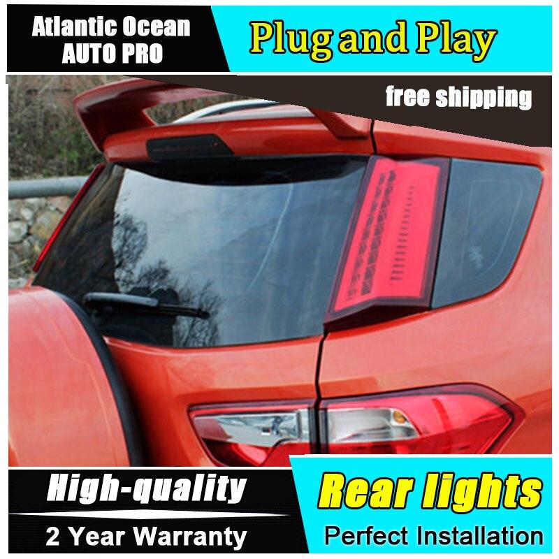 JGRT для укладки автомобиль Аксессуары для Ford Ecopsort задние фонари 2014-2015 светодиодный задний фонарь светодиодный задний фонарь задний свет 1 пара ,4шт