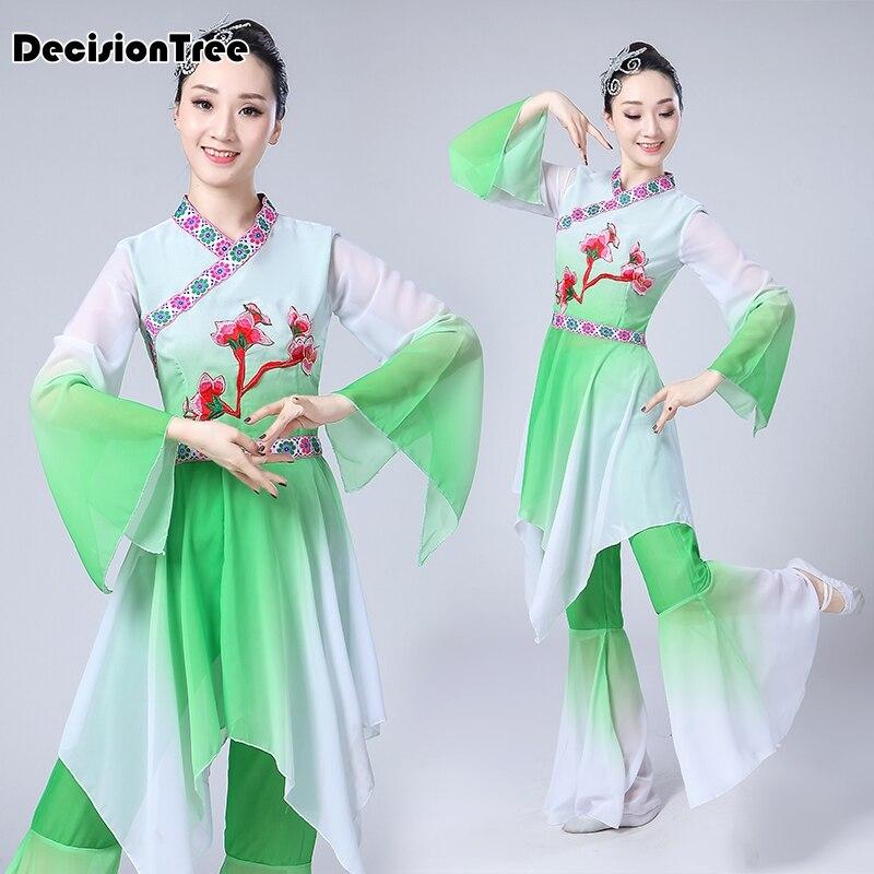 2019 Zomer Hanfu Vrouwen Dans Kostuum Chinese Nationale Podium Outfit Voor Han Dynastie Cosplay Prestaties Kleding Oude Jurk