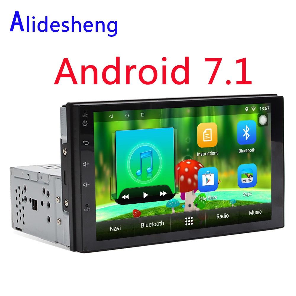 1din Universal Android 7.1 Car DVD Multimedia Player GPS Stereo Radio Audio Player For Toyota Hyundai Nissan VW  Suzuki