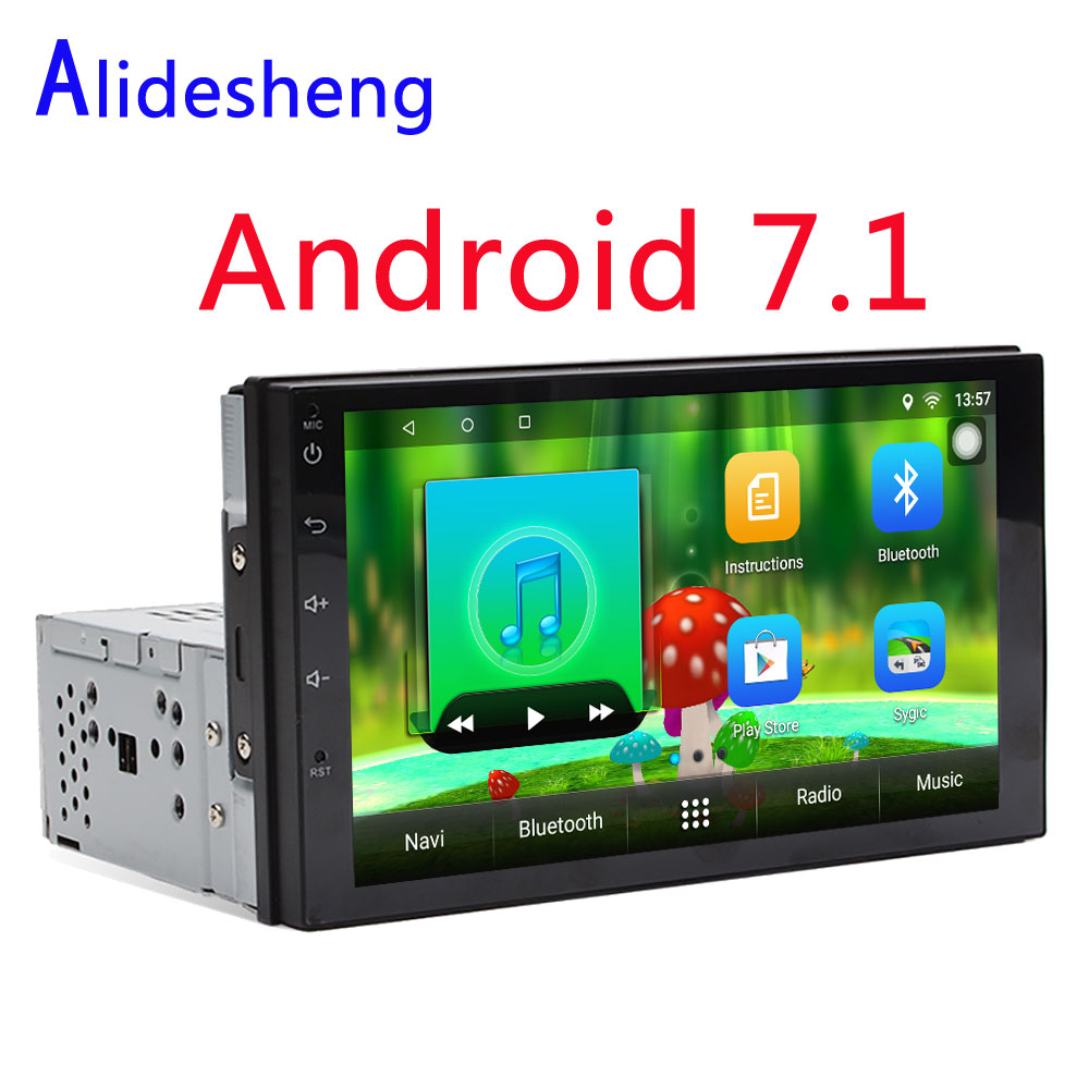1din Universal Android 7.1 Car DVD Multimedia player GPS Stereo Radio Audio Player For Toyota Hyundai Nissan VW  Suzuki