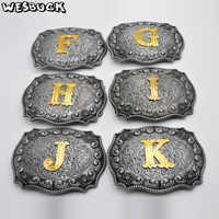 WesBuck Marke Buchstaben F H I J K L M N O P R S T U W Y Gürtel schnallen