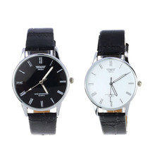 2016 Free shipping Fashion 2colors quartz watch Classic Men's Watch Roman Number Electronic Leather WristWatch