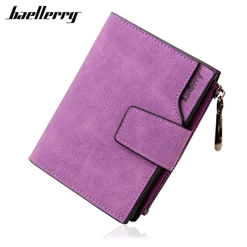 цены на Luxury Brand Women Wallets Lady Small Purse Zipper Matte PU Leather Wallet Short Mini Wallet Bifold Coin Purse Clutch Wallets в интернет-магазинах