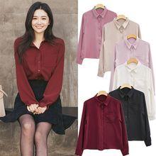 Women Blouses Shirt Long Sleeve Casual C