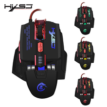 HXSJ X200 4000 DPI Colorful Gaming Mouse 7 Buttons Home Playing Games Optical USB Wired Computer Game Mouse