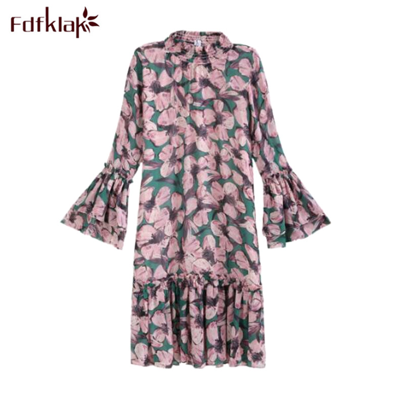 Fdfklak New 2018 Maternity Clothes Long Sleeve Chiffon Pregnant Dress Spring Summer Dress Women Elegant Pregnancy Dresses