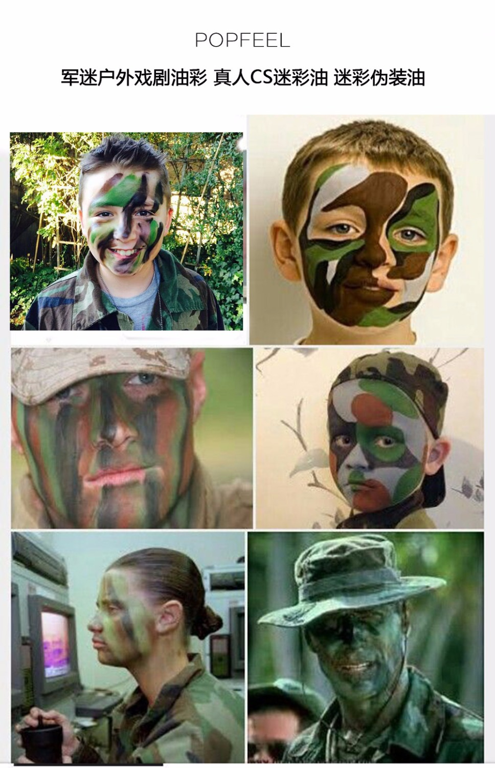 US $3 42 30% OFF|4 Color/Set Camouflage Face Body Painted Palette Army Fan  Outdoor Live Action Cs Drama Pigment World Cup 2018 Russia Face Makeup-in
