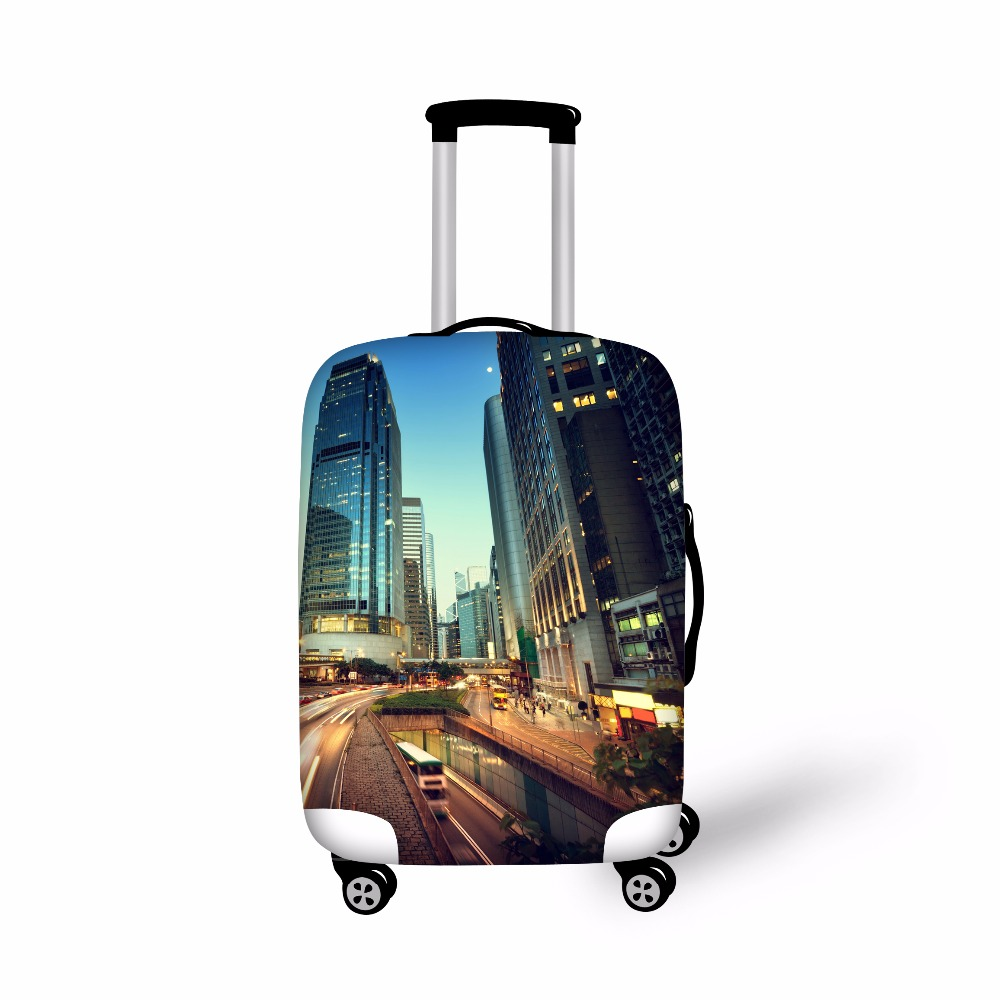 FORUDESIGNS Cover Luggage Travel Elastic Suitcase Perlindungan Cover Luggage Troli Rain Dirt-proof Streth Cover for Cloth
