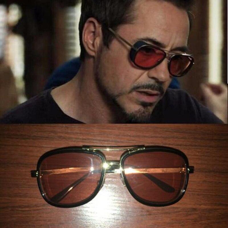 1510e2f00a Gafas Tony Stark Iron Man Gafas de sol hombres de marca de lujo Gafas de sol  Punk Gafas de sol Vintage Hombre Gafas de sol Steampunk Oculos