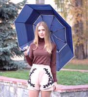 (5 шт./лот) 112 см видимой двойной слой два раза автоматический женский зонт в Гольф зонты с шестигранной головкой углы стальной вал, двойной мо...