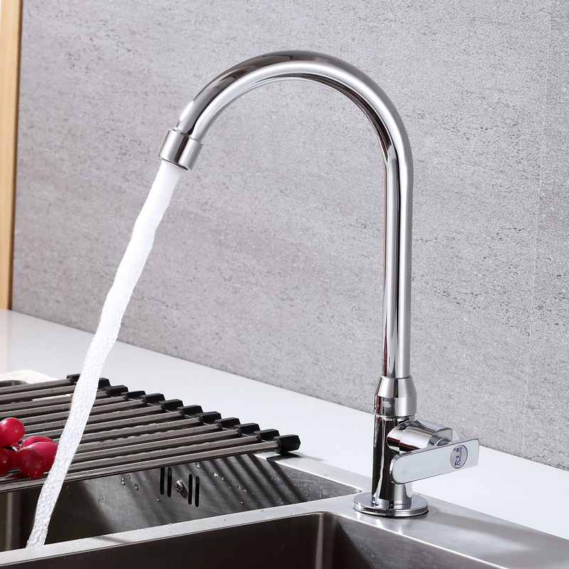 Single Cold Dish Faucet Round Vertical Dish Faucet Sink Kitchen Basin Faucet in Kitchen Faucets from Home Improvement