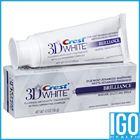 Crest 3D White Brilliance Enamel Safe Teeth Whitening Toothpaste Mesmerizing Mint Flavor 4.1 Oz crest brilliance white toothpastes tooth paste oral hygiene teeth whitening gum care dissolving polishing complex 2 pcs pack