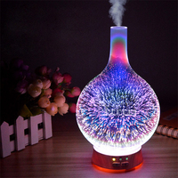 Creative Home Aromatherapy Light Aroma Furnace Mini Humidifier Sprayer 3D Effect Night Light Bedroom Aromatherapy Furnace Hot