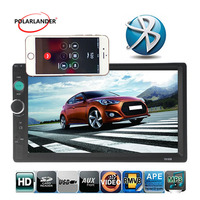 Car radio FM 2 Din 7 background lights Touch Screen Stereo Bluetooth Remote control USB/TF/AUX 4 languages MP5 Player