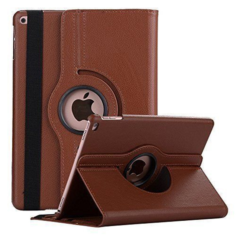 360 Degree Rotating Leather Smart Cover Case for Apple iPad Air 1 Air 2 5 6 New iPad 9.7 2017 2018 A1822 A1823 A1893 Coque Funda image