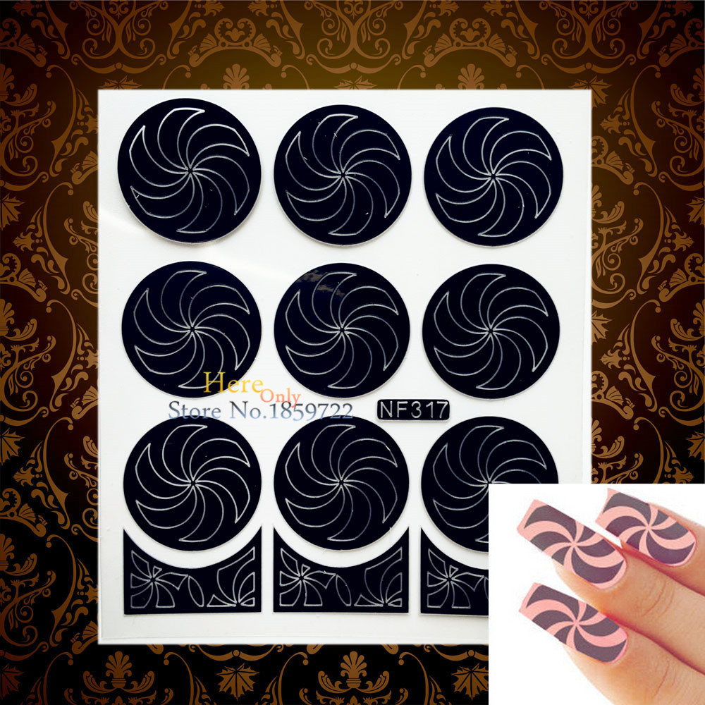 1PC Vintage Damask Pattern Nail Art Sticker Stencil HNF215 Hollow ...