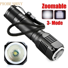 Super 4000LM Zoomable CREE XML Q5 LED 18650 Flashlight Torch Zoom Lamp Light 3 Mode 170125