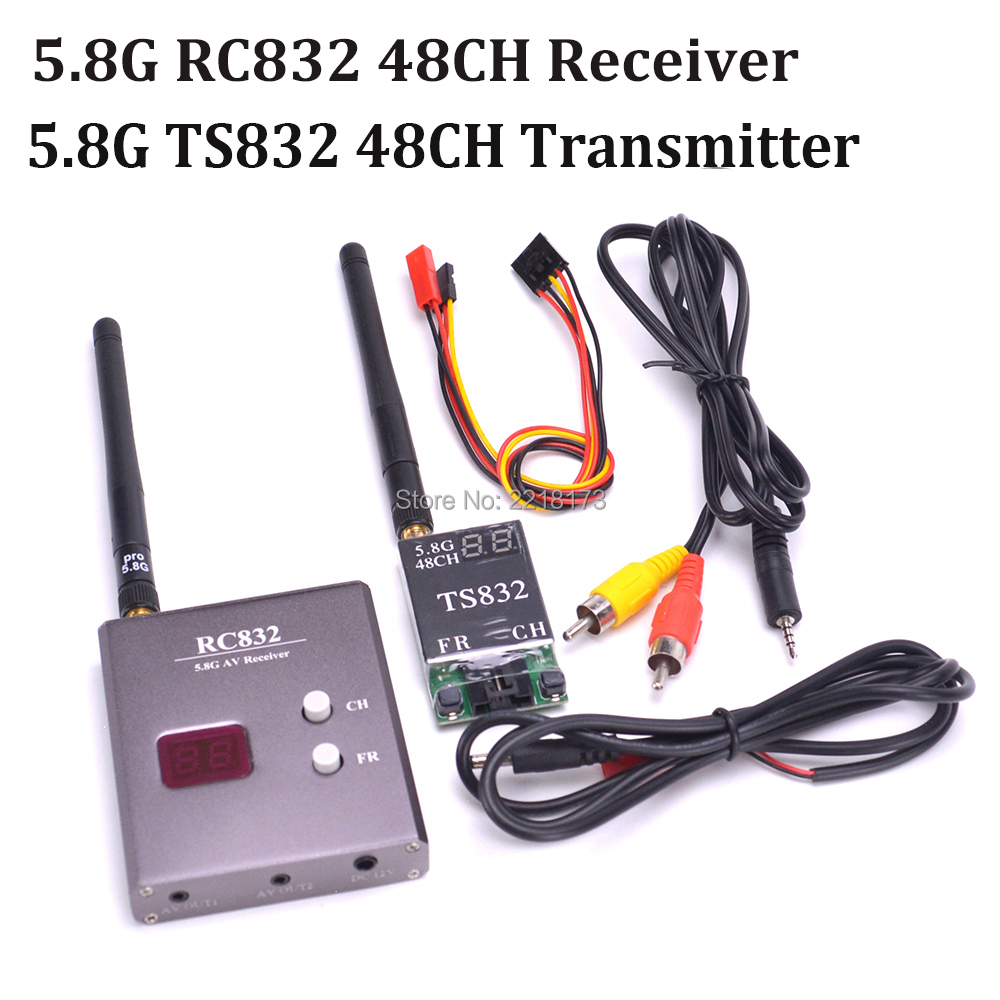 5,8 GHz FPV 5,8g 600 MW 48 canales TS832 RC832 transmisor y receptor AV Wireless Tx Rx Set para quadcopter Multicopter