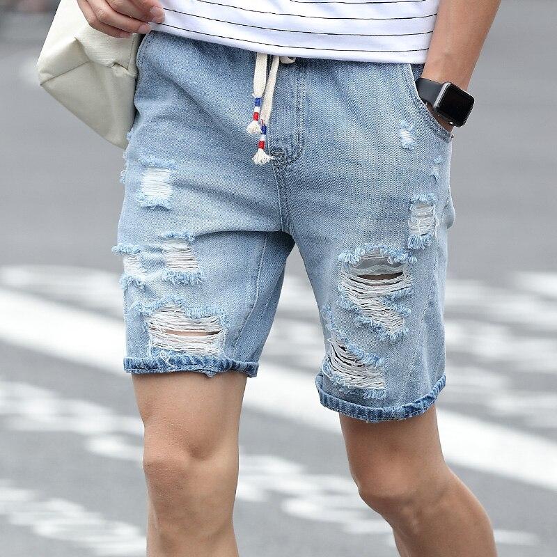 Pantalones cortos de mezclilla para hombre Slim Regular Longitud de - Ropa de hombre - foto 5