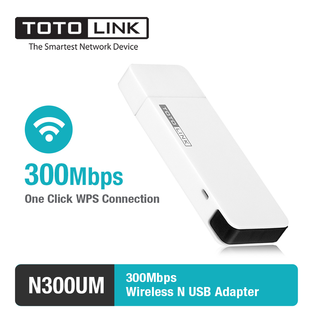 TOTOLINK N300UM 300Mbps Wireless N USB Adapter with Mini USB 2.0 ...