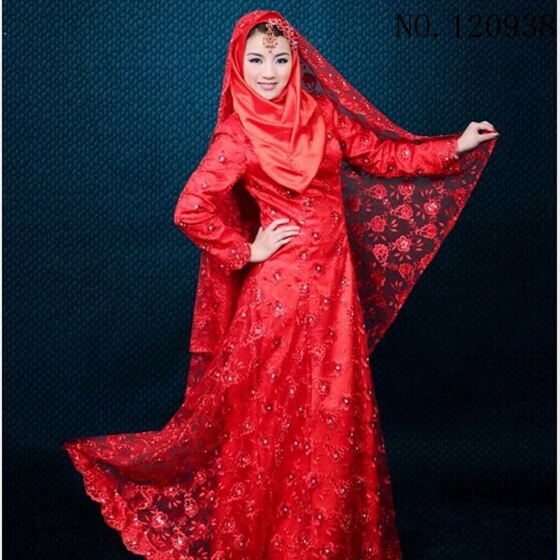 custom muslim wedding dress color malaysia clothes sleeve