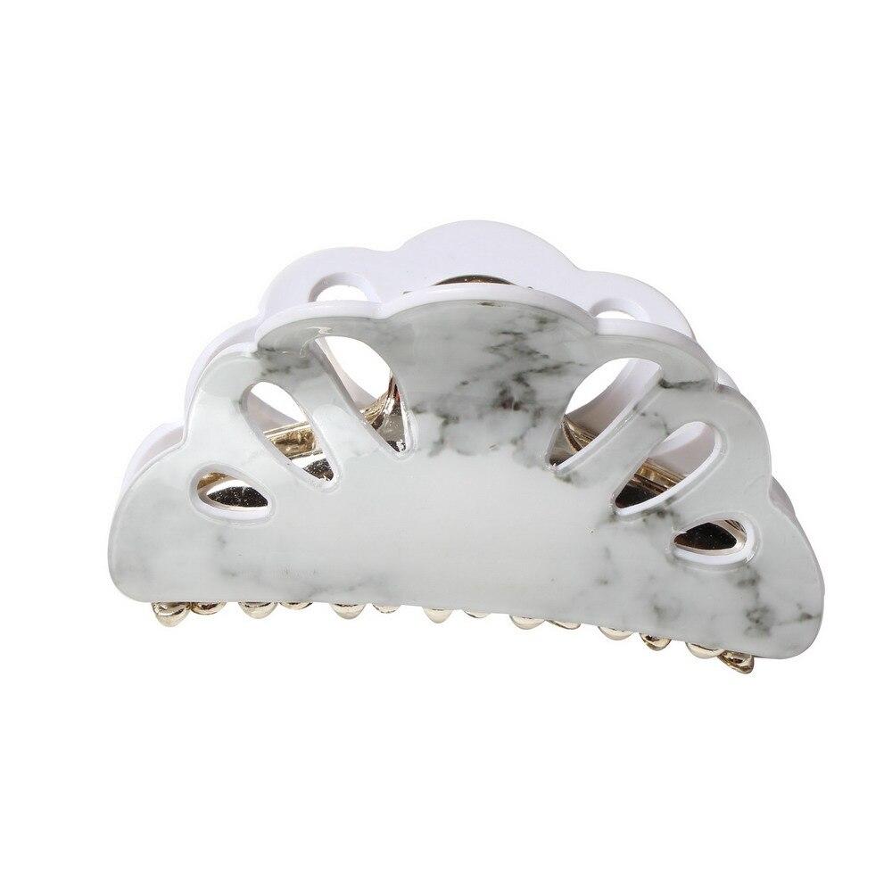 7cm medium acrylic hair claws scallop bulldog hair clips hair