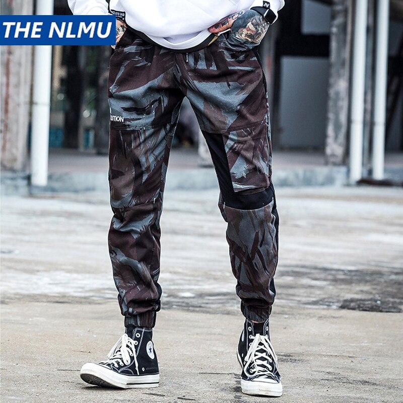 Hip Hop Camouflage Cargo Pant Uomo Streetwear Baggy Pantaloni stile harem Patchwork Street Style Swag Harajuku Mens Jogger Pantaloni W0326