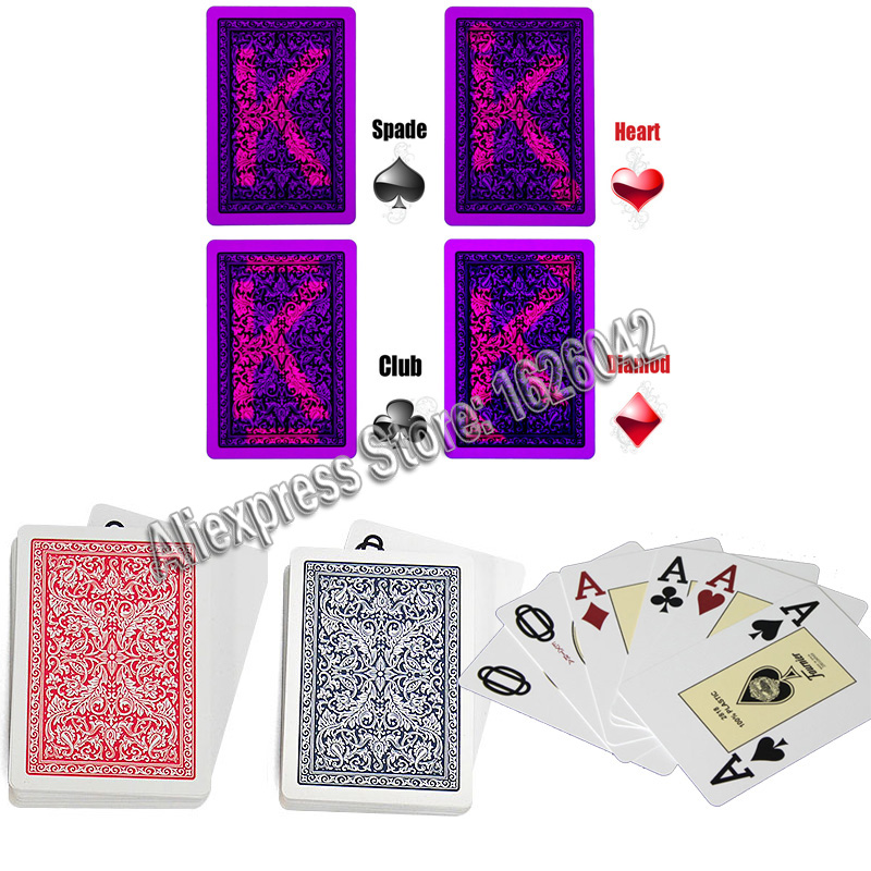 линзы для карты fournier 2818 - Invisible PokerXF Fournier 2818 Plastic Playing Cards Marked Cards for Perspective Glasses UV Contact Lenses Anti Poker Cheat
