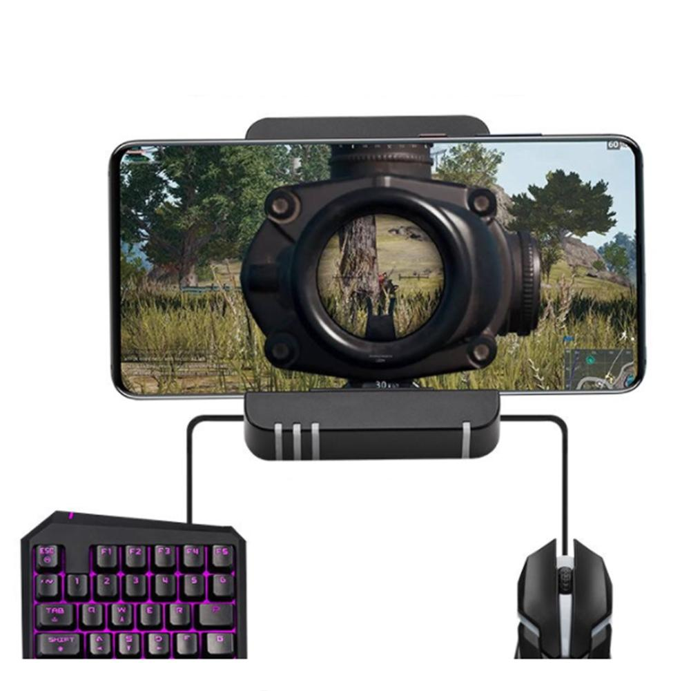 Triangle Phone Bluetooth Gaming Keyboard Mouse Converter Adapter For IOS Android Triangle Phone Bluetooth Gaming
