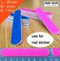 10 unids/lote Nail Art lijado Buffer limas 180/240 papel de lija de manicura UV Gel herramienta pulidora para el clavo de la alta calidad 2016