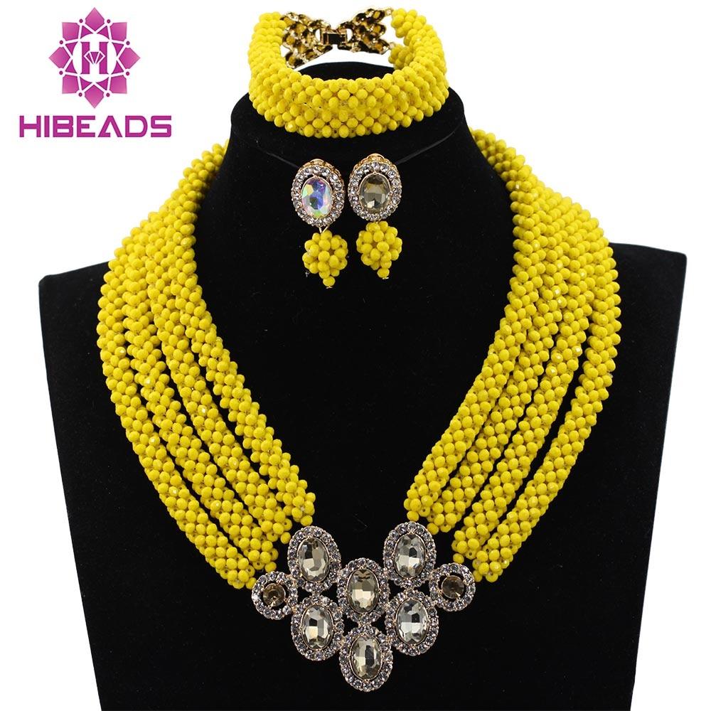Free Shipping!Costume African Fashion Jewelry Sets Big Nigerian African Yellow Beads Wedding Jewelry Set Wholesale HX479Free Shipping!Costume African Fashion Jewelry Sets Big Nigerian African Yellow Beads Wedding Jewelry Set Wholesale HX479