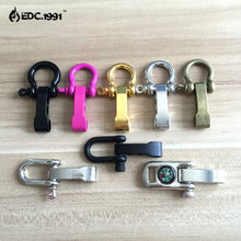 10 PCS Zinc Alloy Adjustable Anchor Shackle Emergency Rope Survival Paracord Bracelet Buckle for Outdoor Camping EDC tools
