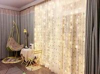 3 Mt * 3 Mt/9.8ft * 9.8ft Fernbedienung Vorhang Lichter LED-String Fairy Light Fenster Eiszapfen Hintergrund lichter für Schlafzimmer, hochzeit, Party