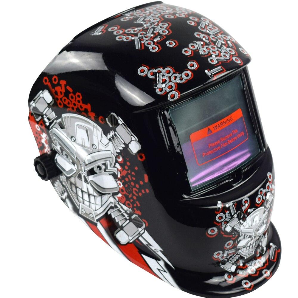 Сварочный шлем Автоматическая Замена Сварочная маска на голову сварочный аппарат Сварочная маска WN 107 Mechanical голова черепа
