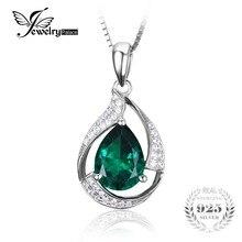 Jewelrypalace 3.5 ct nano ruso esmeralda joya de piedra collares colgante genuino pure 925 joyas de plata sin cadena
