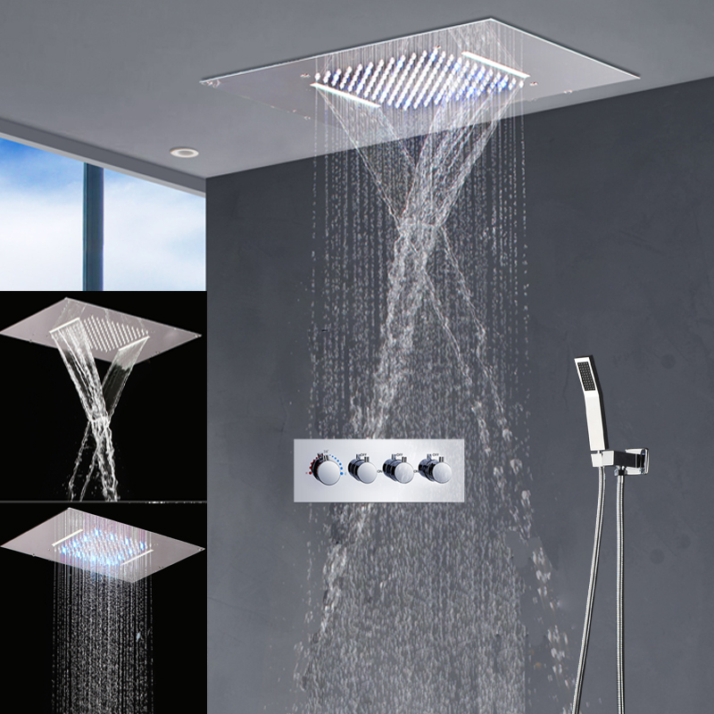 Buy modern bathroom fixtures led shower for Modern bathroom fixtures