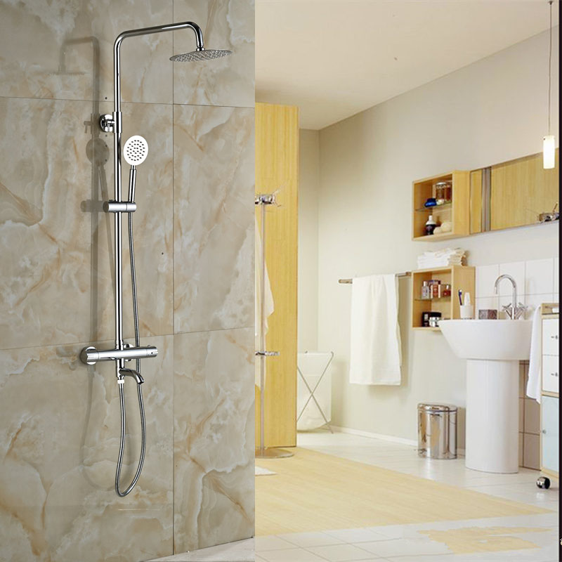 Back To Search Resultshome Improvement Wall Mounted Rainfall 8 Shower Panel Dual Handle Bathroom Shower Faucet System With Handheld Shower Bathroom Fixtures