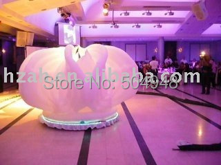 Wedding Inflatable Flower with Light 2017 new inflatable flower long wedding decoration flower