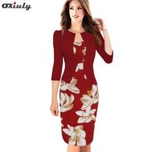 Oxiuly Womens Fitted Faux Jacket Egy darabból készült szalag Tartan virág nyomtatás Patchwork Office Wear üzleti munka Bodycon Pencil Dress