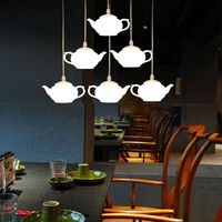 Loft Teapot Droplight Acrylic Ceiling Pendant Fixture Chandelier Light Lamp Aluminum Home Corridor Loft Decorate Store Cafe