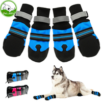 4pcs Waterproof Winter Pet Dog Shoes Anti Slip Snow Pet Boots Paw Protector Warm Reflective For
