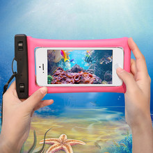 Float Airbag Waterproof Swimming Bag For Vertex Lagune Impress Baccara Calypso Life Sun Lion Dual cam 3G Phone Case Dry Pouch(China)