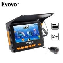 Eyoyo 4.3″ Portable Fish Finder 30M HD Underwater Fishing Camera DVR Video Recorder Photo 150 Degrees 8pcs IR LED Fishfinder