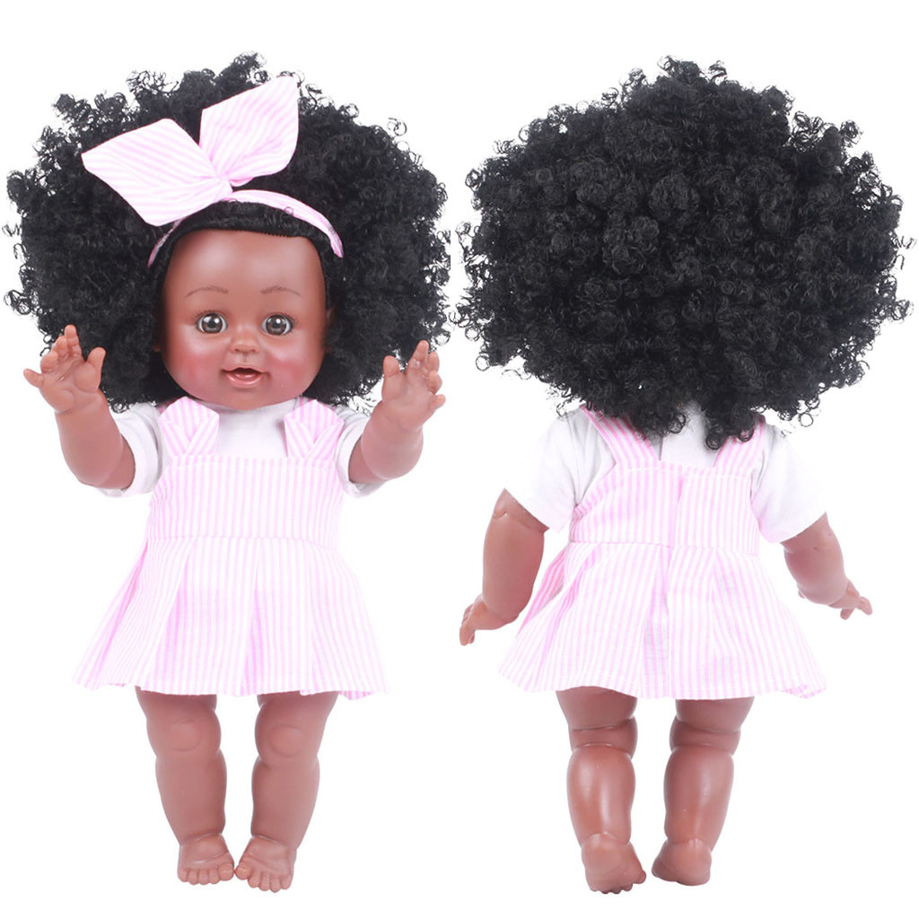 Black Girl Dolls African American Play Dolls Lifelike 35cm Baby Play Dolls Gift