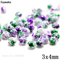 Isywaka 3X4mm 30,000pcs Rondelle Austria faceted Crystal Glass Beads Loose Spacer Round Beads Jewelry Making NO.48