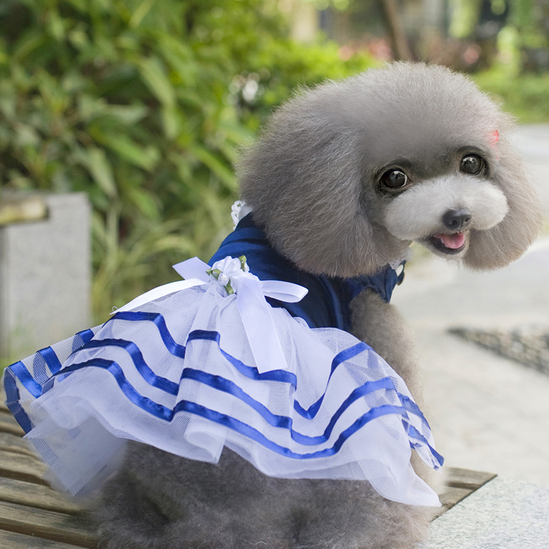 Hot Sales Dog Cat Bow Tutu Dress Lace Skirt Puppy Dog Princess Costume Apparel Pet Clothes XS S M L XL