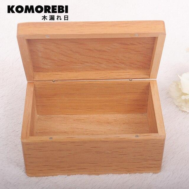 Komorebi Wooden Box Vintage Jewelry Pearl Necklace Bracelet Gift Small  Zakka Box Storage Organizer Handmade Square