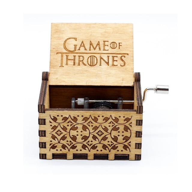 Game of Thrones o Inverno está Chegando de Madeira Dom Caixa de Música De Madeira Presente de Aniversário para o Marido Namorado Presente de Natal para O Irmão